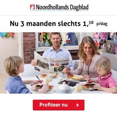 Noordhollands Dagblad abonnement korting