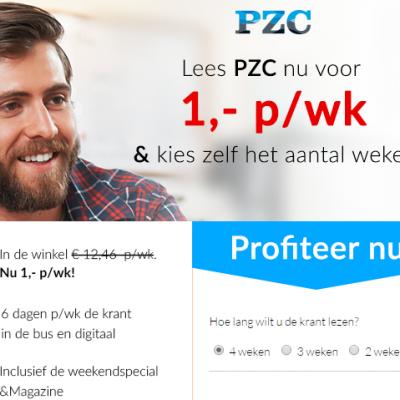 PZC abonnement aanbieding korting