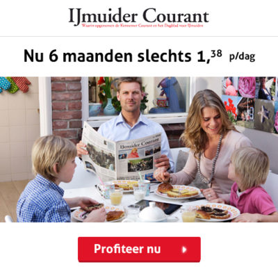 IJmuider Courant 6 maanden abonnement korting