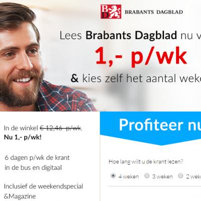 Brabants dagblad abonnement korting