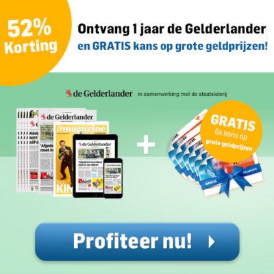 Gelderlander krant abonnement aanbieding gratis staatsloten