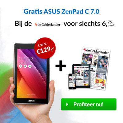 de gelderlander abonnement korting gratis tablet asus
