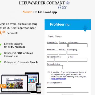 LC app abonnement leeuwarder courant