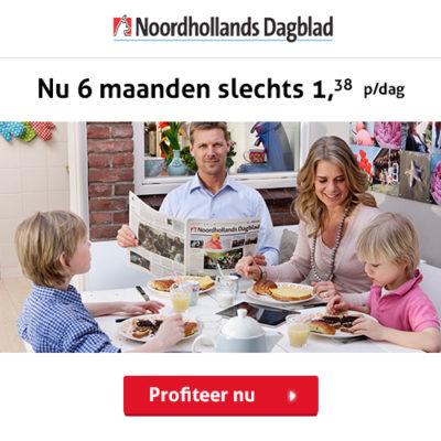 Noordhollands dagblad half jaar abonnement korting
