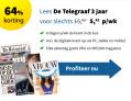 De Telegraaf abonnement | -64% korting | Slechts €5,42 per week! | 3 jaar