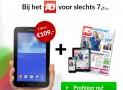 AD 2 jaar met 48% korting & gratis Samsung Galaxy Tab 3 lite