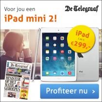 2 jaar De Telegraaf + Ipad mini 2 twv €299,-