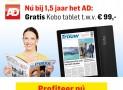 AD 1,5 jaar met 56% korting & gratis tablet