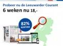 Leeuwarder Courant abonnement 6 weken voor maar €3,- per week!