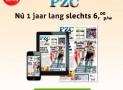 PZC abonnement aanbieding €6,00 per week 52% korting