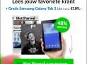 Het Parool jaar abonnement slechts €7,31 per week en gratis een Samsung Galaxy Tab