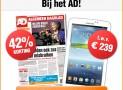 AD 2 jaar met 35% korting & gratis Samsung Galaxy Tab 4.0