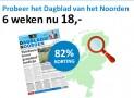 Dagblad van het Noorden abonnement 6 weken voor maar €18,- 82% korting!