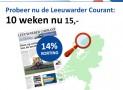 Leeuwarder Courant zaterdag abonnement met 14% korting