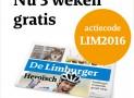 De Limburger nu 3 weken GRATIS Proefabonnement!