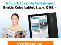 de Volkskrant 1,5 jaar met 22% korting & gratis tablet