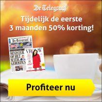 De Telegraaf aanbieding! 50% korting op de eerste 3 maanden!