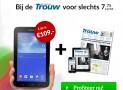 Trouw 2 jaar met 43% korting & gratis Samsung Galaxy Tab 3 lite