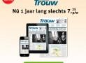 Dagblad Trouw 1 jaar abonnement Zaterdag+ slechts €4,25 per week