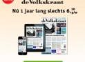 de Volkskrant 1 jaar aanbieding €6,50 per week 61% korting
