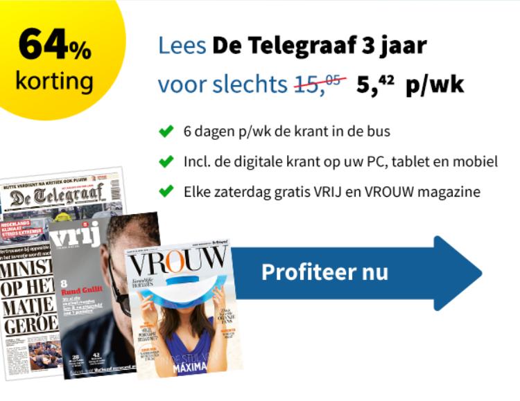 Telegraaf goedkoopste abonnement korting