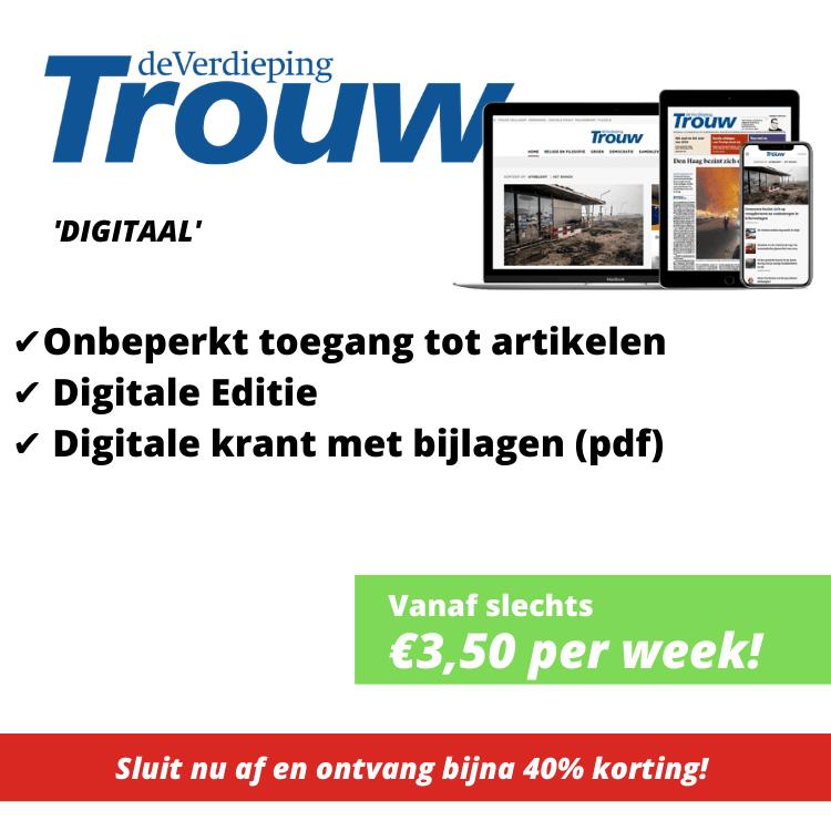 Trouw digitaal krant abonnement aanbieding korting