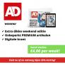 AD weekend abonnement met bijna 35% korting! Slechts €4,00 per week