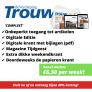 Dagblad Trouw abonnement slechts €6,50 per week! Bijna 40% korting.