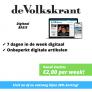 de Volkskrant DIGITAAL basis abonnement aanbieding slechts €2,00 per week!