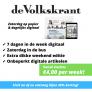 de Volkskrant weekend abonnement voor slechts €4,00 per week!